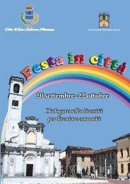 Festa in città F e sta in città - Comune di San Giuliano Milanese