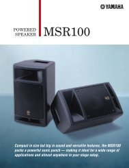 MSR100 Brochure 237.14KB - Yamaha Commercial Audio