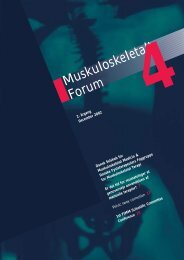 Muskuloskeletalt Forum - 4/2002 (pdf) - Fagforum for ...