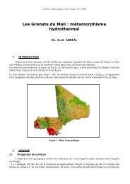 métamorphisme hydrothermal - Page perso minéraux Alain ...