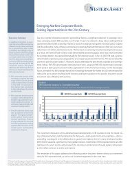 Emerging Markets Corporate Bonds: Seizing ... - Western Asset
