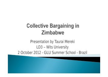 Collective Bargaining in Zimbabwe - The Global Labour University