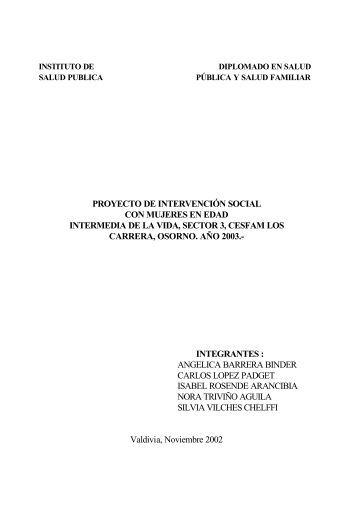Proyecto de intervención social con mujeres en edad intermedia de ...