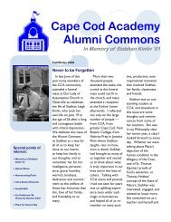 Fall Winter Alumni Commons.pub - Cape Cod Academy