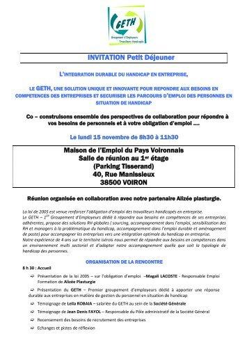 INVITATION Petit Déjeuner - Filiere-plasturgie.com