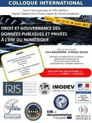 Colloque Imodev - 17 et 18 juin 2013 - e-mégalis Bretagne