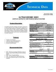 ultrachrome 30001 - ITW Futura Coatings
