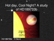 Hot day, Cool Night? A study of HD189733b