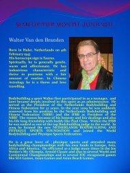MAN OF THE MONTH JUNE 2011 Walter Van den Branden - ABBF