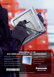 toughbook cf-08 das wireless display mit touchscreen. - Arp