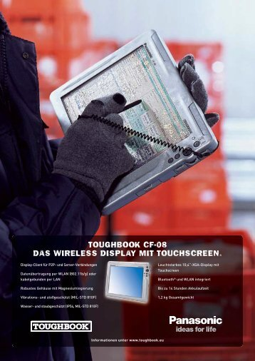 toughbook cf-08 das wireless display mit touchscreen. - Arp