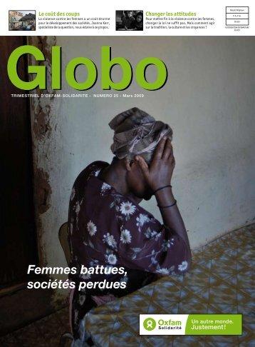 "Globo n°25 ""Femmes battues, sociétés perdues"""
