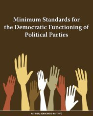 Minimum Standards for the Democratic Functioning of Political Parties