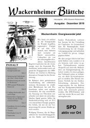02-2010 - SPD Ortsverein Wackernheim