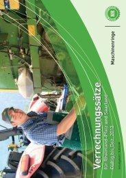 Auszug aus dem Verrechnungsheft 2012 - Maschinen- und ...