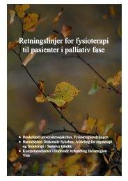 Retningslinjer for fysioterapi til pasienter i palliativ fase - Helse Bergen