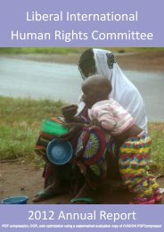 Liberal International Human Rights Committee Report 2012