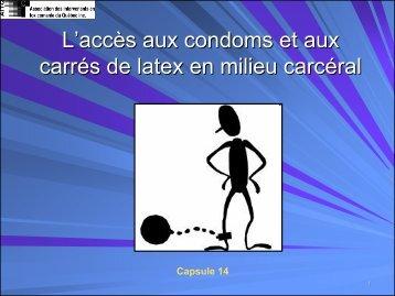 L'accès aux condoms et aux carrés de latex en milieu carcéral