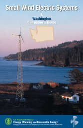Small Wind Electric Systems: A Washington Consumer's Guide - NREL
