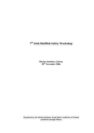 7th Irish Shellfish Safety Workshop - Marine Institute