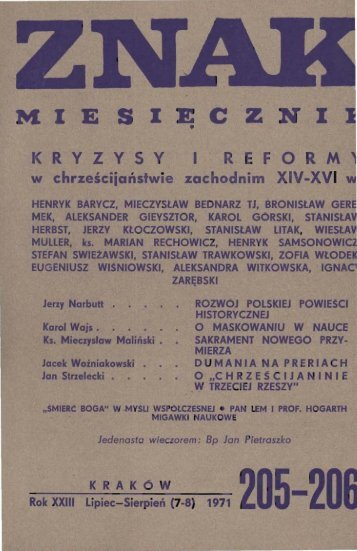Nr 205-206, lipiec-sierpień 1971 - Znak
