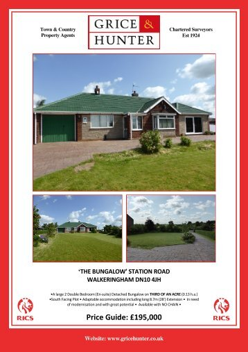 Price Guide: £195,000 - Grice & Hunter
