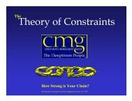 Theory of Constraints - APICS Toledo