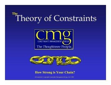 Theory of Constraints - APICS Toledo