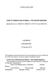 CASE OF EWEIDA AND OTHERS v. THE UNITED KINGDOM