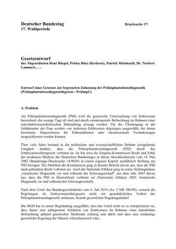 Deutscher Bundestag Gesetzentwurf - René Röspel