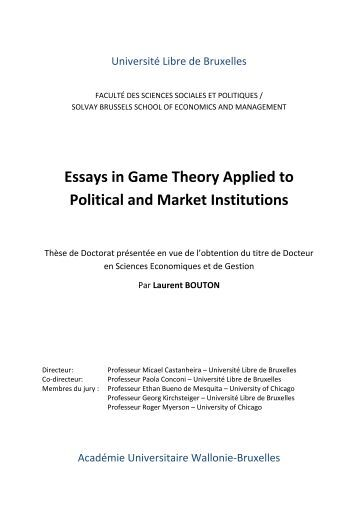 essays on political theory