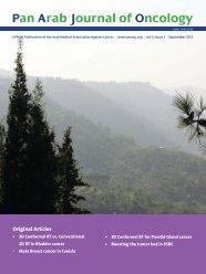 Pan Arab Journal of Oncology - Arab Medical Association Against ...