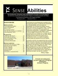 Primavera 2011 Volumen 5, No. 2 (PDF) - Texas School for the Blind ...