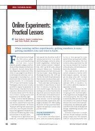 Online Experiments: Practical Lessons, IEEE ... - Exp Platform