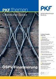 Heft1 05/2007 ÖSPV-Finanzierung - PKF Fasselt Schlage
