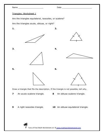 Printables Isosceles Triangle Theorem Worksheet isosceles triangle theorems worksheet five pack math classifying triangles 5 worksheets land
