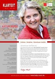 Klartext 2010 - Ausgabe 1 - Katja Mast