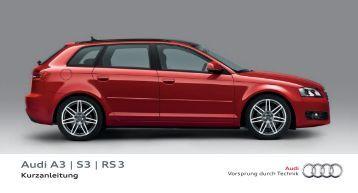 Kurzanleitung Audi A3 Sportback - PDF
