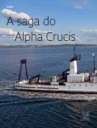 O navio faz seu primeiro teste no mar - Revista Pesquisa FAPESP