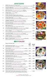 Rachada combos - Rachada Thai Cuisine