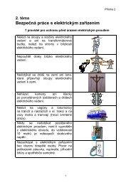 Příloha 2 Bezpečná práce s elektrickým zařízením