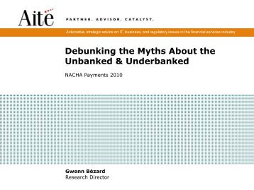 Debunking the Myths About the Unbanked & Underbanked