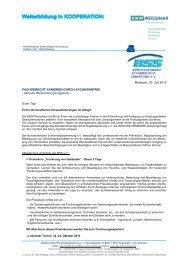 Aktuelle Weiterbildungsangebote - Bundesverband ...