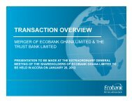 TRANSACTION OVERVIEW - Ecobank
