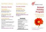 School Holiday Program - Ashfield Council