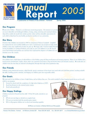 Annual Report 2005.qxp - Friends of the Children
