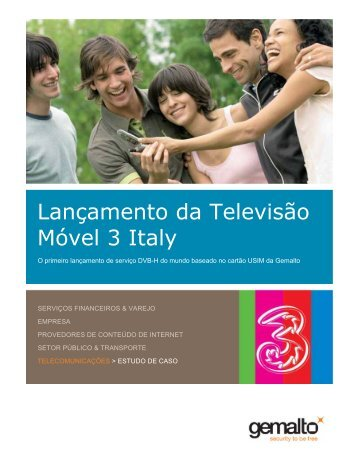 Lançamento da Televisão Móvel 3 Italy - Gemalto