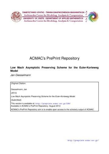 Download (974Kb) - ACMAC's PrePrint Repository