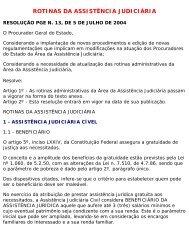 Rotinas Administrativas da Assistência Judiciária - Procuradoria ...
