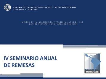 IV Seminario Anual de Remesas - Programa de Remesas